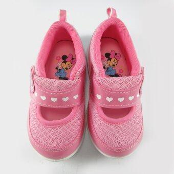 Disney Minnie Mouse รองเท้าคัชชู กึ่งสปอร์ต เด็กหญิง ดิสนีย์ มินนี่ เมาส์ สีชมพู