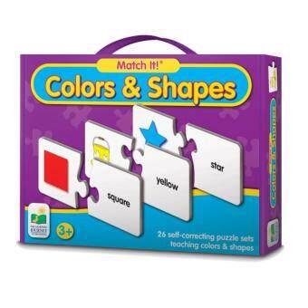 จิ๊กซอร์คำศัพย์ 26 คำ Match It colors and shapes