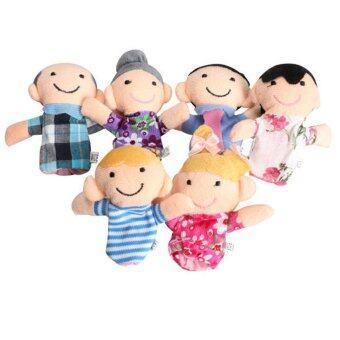 smartbabyandkid ตุ๊กตานิ้วครอบครัว 6 ชิ้น