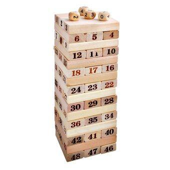 Rich Toy เกมตึกถล่มแบบไม้ stacko 48 ชิ้น