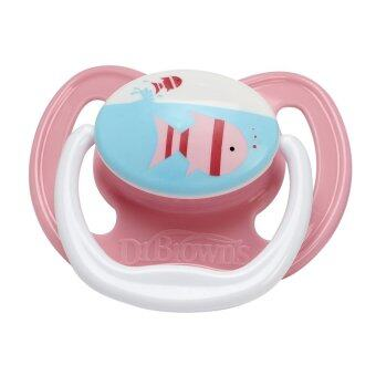 Dr.Brown's จุกหลอก PreVent Pacifier Stage 1 * 0 6M (Pink) Fish