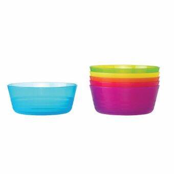 ชามอาหารสำหรับเด็ก รุ่นคาลอส (6 ใบ/คละสี)