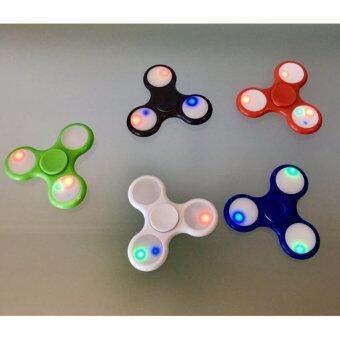 Fidget Spinner LED ฟิ๊ดเจ็ทสปินเนอร์ มีไฟเรืองแสง พร้อมสวิตซ์เปิดปิดไฟในตัว (คละสี)