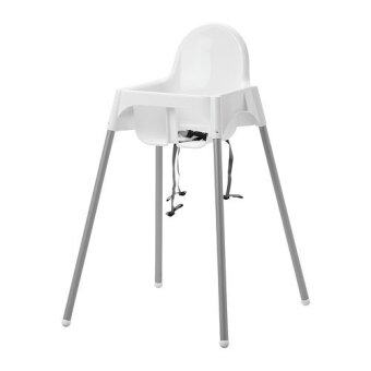 Babyhood เก้าอี้นั่งทานข้าวทรงสูง ปรับได้ 2 ระดับ (สีขาว)