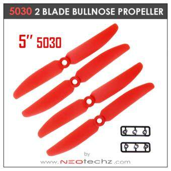 Harga 2 Pairs 5030 5 Inch 5'' Bullnose CW CCW Nylon Propeller Props For Multicopter Quadcopter QAV250 Drone Frame Kit