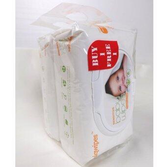 Sensitive Baby Wipes ผ้าเปียก ผิวหน้ารังผึ้ง สูตรใหม่ แบบอ่อนโยน สำหรับเด็กแรกเกิด-ผู้ใหญ่ 1 แพ็ค (ซื้อ 1 แถม 1)