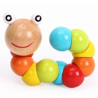 ของเล่นไม้เสริมพัฒนาการ ตัวหนอนหลากสี รุ่น toy3