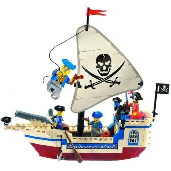Enlighten ตัวต่อโจรสลัด (Pirate) ENLIGHTEN-304 เรือโจรสลัดขาวเล็ก 188 ชิ้น