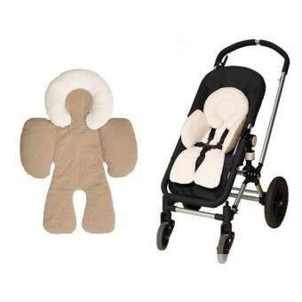 Babyshop656 ชุดเซตเบาะรองนอนพร้อมหมอนรองคอ สำหรับเด็ก สีน้ำตาล – Seat stroller and neck pillow for kids (brown)