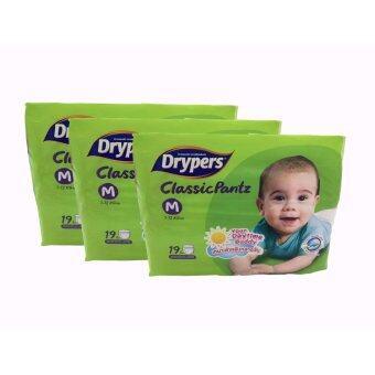 Drypers กางเกงผ้าอ้อมเด็ก คอนวีเนี่ยน ไซส์ M (แพ็ค3)