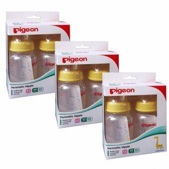 Pigeon ขวดนม RPP ลายยีราฟ ขนาด 4 ออนซ์ แพ็ค 6 ขวด พร้อมจุกเสมือนนมมารดา รุ่นมินิ ไซส์ S