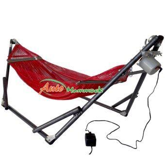 Auto Hammock เปลนอนเด็กแบบเปลไกวอัตโนมัติผ้าเปลเล็กสไตล์เปลญวนสีแดงกับมอเตอร์ VN-365