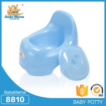 กระโถนสำหรับเด็กสำหรับเด็กอายุ 5เดือน-2ปี ยี่ห้อ Babamama รุ่น French toilet แบบ 8810 สีฟ้า