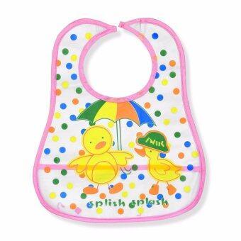 Babybrown Plastic กันเปื้อน สีชมพู