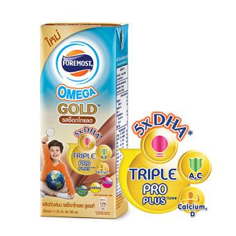 ขายยกลัง! โฟร์โมสต์ นม UHT สูตร Omega Gold 180 มล. รสช็อคโกแลต (24 กล่อง/ลัง)