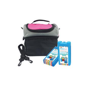 GRACE KIDS กระเป๋าเก็บอุณหภูมิแบบ 2ชั้น พร้อมก้อนน้ำแข็งสำหรับแช่นมและอาหาร (2 ชิ้น)