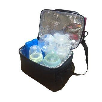 GRACE KIDS กระเป๋าเก็บอุณหภูมิแบบ 2ชั้น พร้อมก้อนน้ำแข็งสำหรับแช่นมและอาหาร (2 ชิ้น) (image 4)