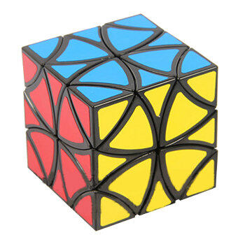 Leegoal Lanlan พีวีซีสติกเกอร์ดอกไม้เล่นสมอง Skweb Rubik ลูกบาศก์ปริศนา (5.5 x 5.5ซม สีดำ)
