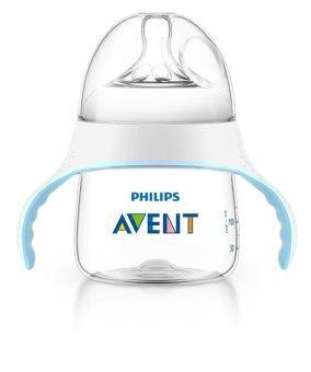 Avent ถ้วยหัดดื่ม 5oz พร้อมจุกนมและจุกหัดดื่ม รุ่น natural - สีใส