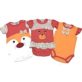 LITTLE BABY M เสื้อผ้าเด็กเล็ก บอดี้สูท set ลายการ์ตูน 3ตัว