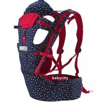 เป้อุ้มเด็ก เป้สะพายเด็ก เป้อุ้มทารก เป้อุ้ม Baby Carrier รุ่นขายดี สีแดง น้ำเงิน ลายดาว