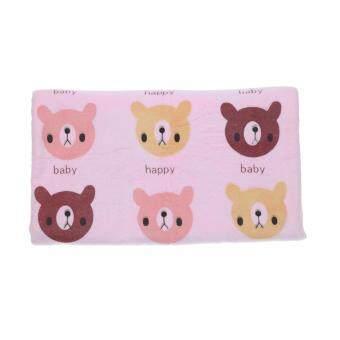 GRACE KIDS ผ้าเช็ดตัวไมโครไฟเบอร์ลายหมี - สีชมพู