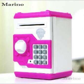 Marino กระปุกออมสินตู้เซฟ ดูดแบงค์ No.H08 - Blue / Red / Pink / Yellow