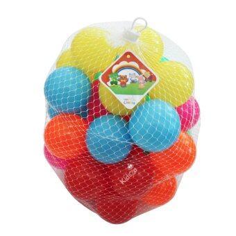Kidsza ลูกบอล40ลูกปลอดสารพิษ รุ่นเนื้อหนาหลากสี ขนาด3นิ้ว