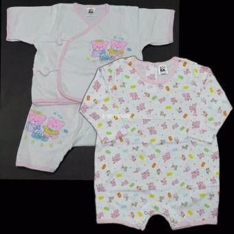 BABYKIDS95 ชุดเด็กผู้หญิง Size 9-18 เดือน คละแบบ 2ชุด (Pink)