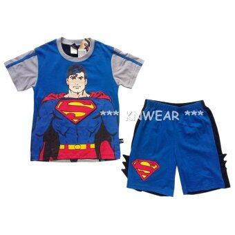 BATMAN V SUPERMAN ชุดเสื้อผ้าเด็ก ด้านหน้าสกีนซุปเปอร์แมน ด้านหลังสกีนแบทแมน - A1623