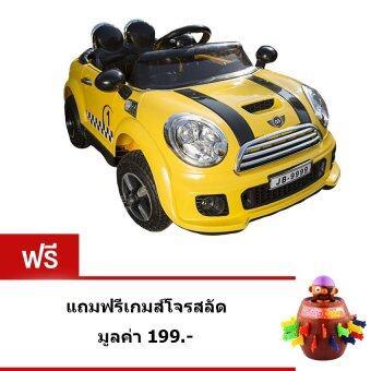 Uni รถแบตเตอรี่ รถไฟฟ้าเด็ก รถแข่งเด็ก สำหรับเด็กนั่ง 2 มอเตอร์ ( สีเหลือง )