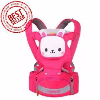 เป้อุ้มเด็ก เป้สะพายเด็ก เป้เพื่อสุขภาพ รูปกระต่าย ปรับได้ 4 ท่าทาง (สีชมพู) Baby Mambo Hip Seat Carrier 4 In 1 Model : Pink Rabbit