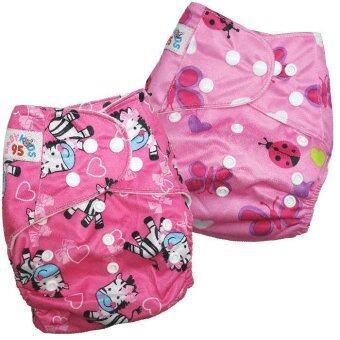 BABYKIDS95 กางเกงผ้าอ้อมกันน้ำ รุ่นดีลักส์ ไซส์เด็ก 3-16กก. เซ็ท 2ตัว แบบที่ 43