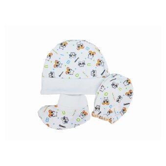 B&B kids เซ็ต 3 ชิ้น หมวก ถุงมือ ถุงเท้า เด็กอ่อนไซส์ 0-6เดือน ลายหนูแฮมเตอร์