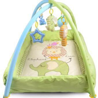 เพลยิม ที่นอนเด็ก เปลเด็ก ของเล่นเสริมพัฒนาการ ที่นอนเด็กแรกเกิด ที่นอนเด็กอ่อน เบาะนอนทารก สีเขียว