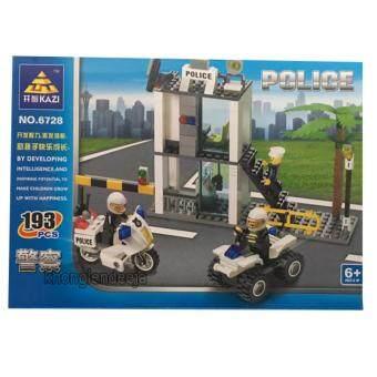 Khonglendee ชุดตัวต่อเลโก้ ป้อมตำรวจ NO.6728 (193 PCS)