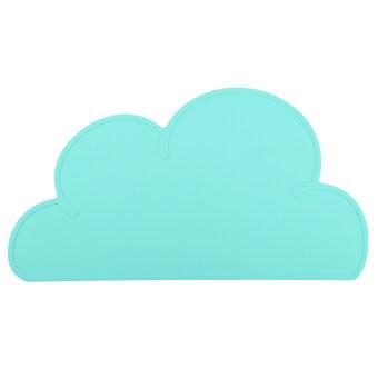 ซิลิโคนกันน้ำเมฆรูปเด็กที่เสื่อ 47ซม x 27ซม (สีเขียว)