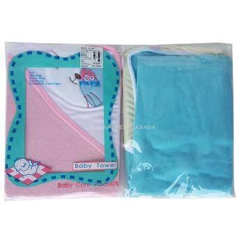 PAPA ผ้าข่นหนูห่อตัวเด็ก แพ็ค 2 ชิ้น (สีชมพู/ฟ้า)
