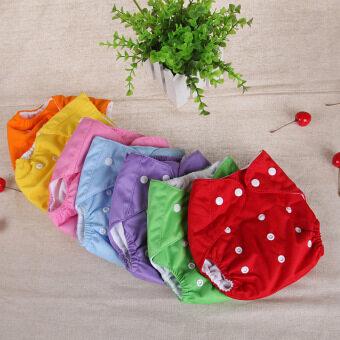 Riko กางเกงผ้าอ้อมนาโน กางเกงซับฉี่นาโน เซทสีพื้น 7 สี