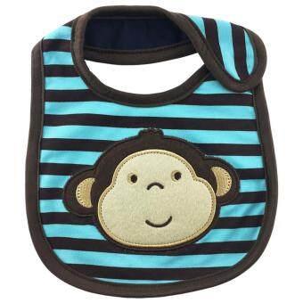 LukLek ผ้ากันเปื้อนเด็ก ผ้ากันน้ำลาย อายุ 0 - 2 ปี กันน้ำได้ ลายการ์ตูนน่ารัก