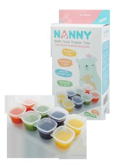 แนนนี่ถ้วยแช่แข็งอาหารเด็ก2 ออนซ์ เซ็ท8 ชิ้น * 2 ชุด