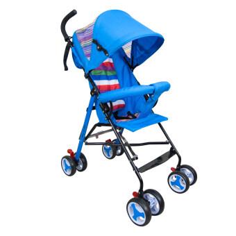 Replica Shop รถเข็นเด็กพับได้ Baby Stroller รุ่น S-311 (สีฟ้า/รุ้ง)