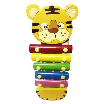 ของเล่นไม้เสริมพัฒนาการ ระนาดดนตรี ของเล่นสำหรับเด็ก (ลายเสือสีเหลือง) - Wooden Xylophone Toy (Yellow Tiger)