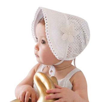Harga Girls Baby Hat Beanie New Lace Floral Caps(White)