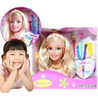 Kids Toys หัวตุ๊กตาเจ้าหญิง พร้อมอุปกรณ์แต่งหน้า ทำผม และ เครื่องประดับ