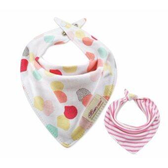 ิBabyshop656 ผ้ากันเปื้อนสองด้าน ทรงสามเหลียม ผ้าเช็ดปาก ผ้าเช็ดน้ำลาย สำหรับเด็ก รุ่น pink dot – Baby two way Triangle chief (pink dot)