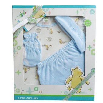 Baby Gift Set ชุดของขวัญ เด็กแรกเกิด 4 ชิ้น หมี Pooh สีฟ้า CP-3130