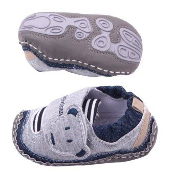 Harga Kids Shoes Boys Sneakers Outdoor Prewalker Little Bear First Walking Comfortable Shoe (Grey)