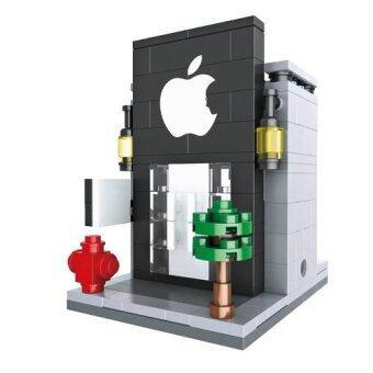 HSANHE Mini Street Cell Phone Store Legoเลโก้ร้านขายอุปกรณ์มือถือ