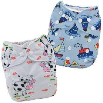 BABYKIDS95 กางเกงผ้าอ้อมกันน้ำ รุ่นดีลักส์ ไซส์เด็ก 3-16กก. เซ็ท 2ตัว แบบที่ 29